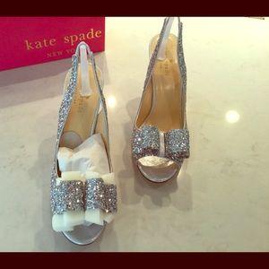 Kate Spade Silver Charm Heel